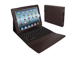 Folding Leather Protective Bluetooth Keyboard Case Cover for iPad 1, iPad 2