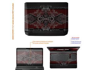 Matte Protective Decal Skin Sticker (Matte finish) for ASUS G75 Series G75VW with 17.3in Screen (view IDENTIFY image for ...