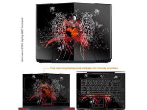 Matte Protective Decal Skin Sticker (Matte finish) for Alienware M15X with 15.6 inch Screen (NOTES: view IDENTIFY image for ...