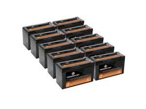 12V 9AH Sealed Lead Acid (SLA) Battery - T2 Terminals - for ZB-12-9 - 10PK