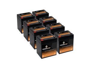 12V 5AH SLA Battery replaces nph5-12 hr1221wf2 wp5-12 23-289b bp4-12 - 8PK