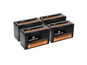 12V 7AH SLA Battery Replaces gp1272 np7-12 bp7-12 npw36-12 ps-1270 ub1280 - 4PK