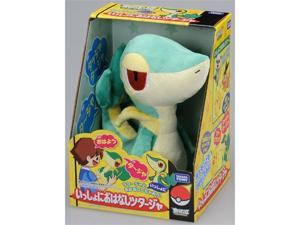 "Takara Tomy Pokemon Black & White Voice Activated Talking Plush Toy - 12"" Tsutarja / Snivy (Japanese Import)"