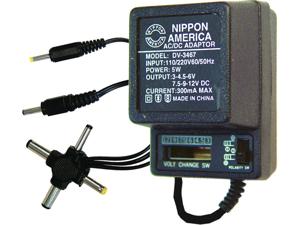 NEW NIPPON DV3467 AC/DC 300mA POWER ADAPTER 6 WAY UNIVERSAL PLUG