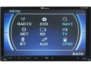 "NEW XO VISION XOD1760BT 7"" DOUBLE DIN INDASH TOUCHSCREEN DVD RECEIVER W/ USB/SD"
