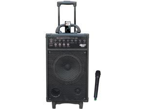 PylePro PWMA860I 500W VHF Wireless Portable PA System -Echo with Ipod Dock
