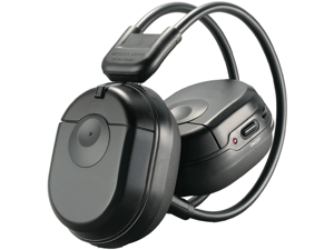Farenheit HP-12S Dual Channel Infrared Wireless Headphones with Swivel Ear Pads and Auto Level Control