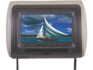 New Power Acoustik Hdvd71cc Car Headrest Dvd Player W/ Usb/Sd/Aux/Ir/Fm