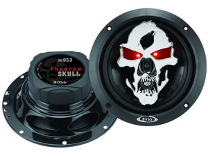 "Boss Audio Sk653 Phantom Skull 3-Way  Speakers With Tooled Skull Cover (6.5"")"