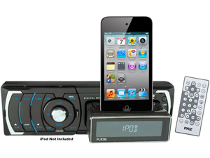 New Pyle Plr38i Am Fm Stereo W/ Usb Sd Slide Out Ipod Docking Station & Remote
