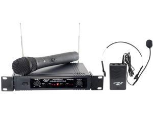 NEW PYLE PDWM2700 WIRELESS MICROPHONES AND HEADSET WITH WIRELESS RECEIVER