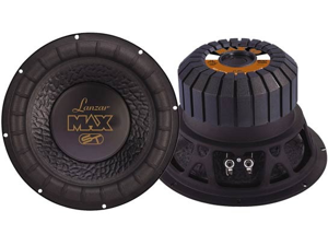 Lanzar - Max 10'' 800 Watt Small Enclosure 4 Ohm Subwoofer
