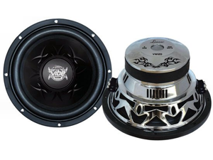 Lanzar - Vibe 12'' 1600 Watt Dual 4 Ohm Chrome Subwoofer