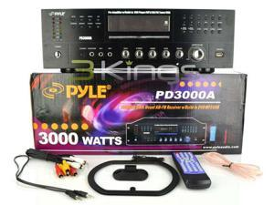NEW PYLE PD3000A 3000W PROFESSIONAL AMPLIFIER W/ BUILT IN AM/FM TUNER DVD/MP3