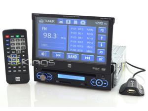 "Dual AM/FM/CD/DVD Receiver 7"" LCD Touchscreen w/ USB, SD, AUX & Remote Model XDVD3101"