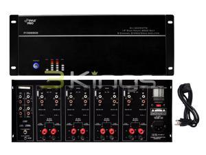 """New Pyle Pt8000ch 19"""" Rack Mount 8000W 8 Ch Stereo Mono Amplifier Amp 8 Channel"""