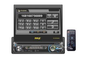 "Pyle PLTS78DUB - Single DIN In-Dash DVD/CD/MP3/MP4/USB/SD/AM-FM Receiver with 7"" TFT-LCD Monitor"