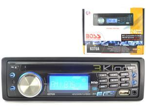 Boss 637UA Car CD/MP3 Player - 240 W RMS - iPod/iPhone Compatible - Single DIN