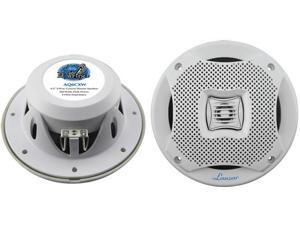 "New Pair Lanzar Aq6cxw White 6.5"" 450W 2 Way Marine Speakers 450 Watt 6 1/2"""