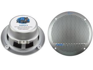 "New Pair Lanzar Aq5cxs 5.25"" 400W 2-Way Marine/Boat Audio Stereo Speakers Silver"