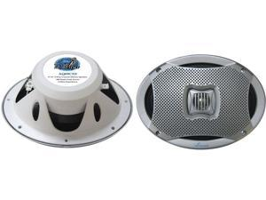 "New Pair Lanzar Aq69cxs Silver 500W 6X9"" 2 Way Marine Speakers"