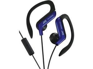 JVC HAEBR80A SPORT-CLIP IN-EAR HEADPHONES WITH MICROPHONE & REMOTE (BLUE)