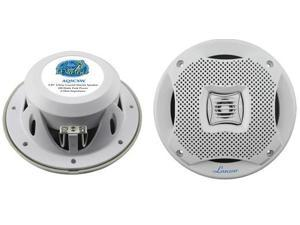 "New Pair Lanzar Aq5cxw White 5.25"" 400W 2 Way Marine Speakers 400 Watt 5 1/4"""