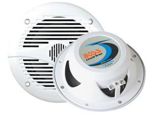 "New Pair Boss Mr50w White 5.25"" 150W 2 Way Marine Audio Speakers 150 Watt 5 1/4"""