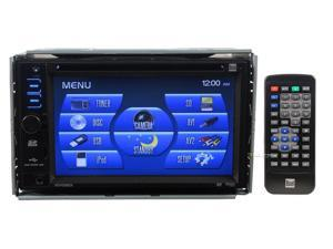 "NEW DUAL XDVD3201 DOUBLE DIN 6.2"" INDASH WIDESCREEN TOUCHSCREEN DVD IPOD CONTROL"