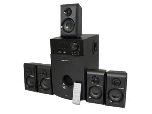 Theater Solutions TS514 Home Theater 5.1 Multimedia Speaker Surround System 600 Watts with Tuner TS514