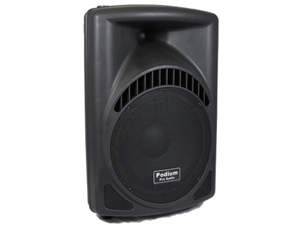 "Podium Pro 600 Watts Band DJ PA Karaoke Active Powered 12"" Loud Speaker w/ Bluetooth PP1204CD1B"
