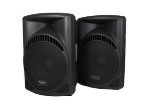 "Podium Pro 1 Pair of New 1800 Watts Band DJ PA Karaoke Active Powered 15"" Loud Speakers w/ Bluetooth PP1504CAB"