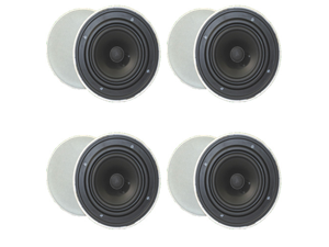 """4 Pair of Goldwood Sound GH65 Round 6.5"""" In Ceiling Quick Install Speakers New 4GH65"""
