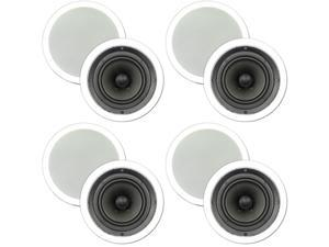 """Theater Solutions 4 New Pairs of 6.5"""" In Ceiling Surround Sound HD Home Theater Speakers 1600 Watts 4TS65C"""