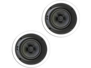 """Theater Solutions TSS6A New 6.5"""" In Ceiling Home Theater Glass Fiber Angled 2 Speaker Set 500 Watts 2TSS6A"""