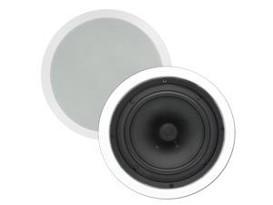 "Theater Solutions TS80C 8"" In Ceiling Surround Sound HD Home Theater Round Kevlar Speaker Pair"