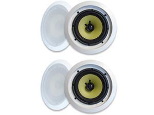 """MA Audio Synergy Series 65iC In-Wall In Ceiling 6.5"""" Speakers 600W Home Theater 2 Pair Pack 65iC-2Pr"""
