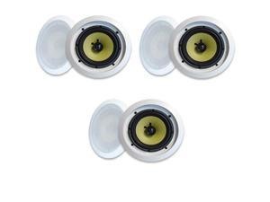 "MA Audio Synergy Series 65iC In-Wall In Ceiling 6.5"" Speakers 900W Home Theater 3 Pair Pack 65iC-3Pr"