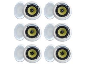 "MA Audio Synergy Series 65iC In-Wall In Ceiling 6.5"" Speakers 1800W Home Theater 6 Pair Pack 65iC-6Pr"