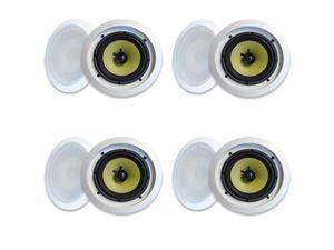 "MA Audio Synergy Series 65iC In-Wall In Ceiling 6.5"" Speakers 1200W Home Theater 4 Pair Pack 65iC-4Pr"