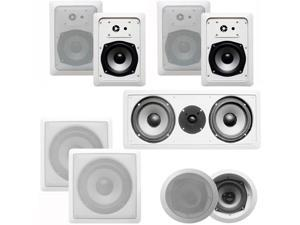 Acoustic Audio CST527 Complete 7.2 Home Theater Speaker Set with Center Channel and Subwoofers 2050 Watts