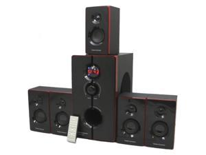 Theater Solutions TS516BT 5.1 CH Home Theater 800 Watt Speaker System with Built-In Bluetooth