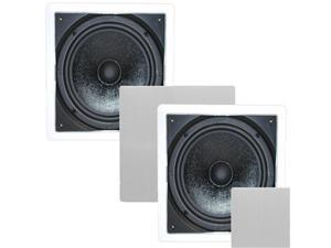 "2 Theater Solutions TS1000 Passive 10"" Home Theater In Wall Subwoofers 300 Watts 2TS1000"