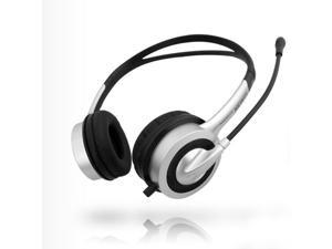 Durherm DR-H20 Computer PC Laptop Notebook Desktop On-Ear Stereo Headphone Headset with Noise Canceling Microphone Mic