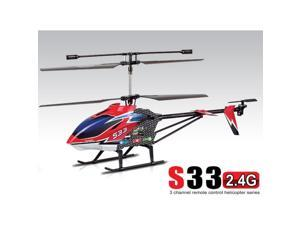 "Syma S33 2.4GHz 3CH Large Size 30"" Gyro Remote Control Metal RC Helicopter NEW"