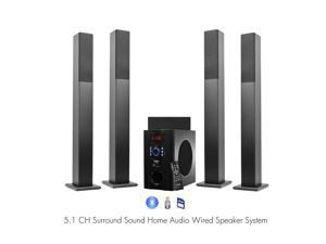 Frisby FS6500BT  Bluetooth Surround Sound 5.1 Tower Home Theater Speaker System w/ USB SD