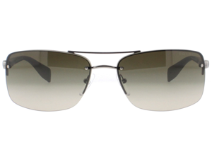 Prada SPS 50N 5Av1X1 Gunmetal Brown Gradient Aviator Unisex Sunglasses