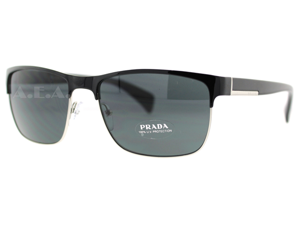 Prada SPR 51O Gaq-1A1 Shiny Black/Gun Metal Unisex Sunglasses