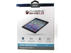 Zagg Invisible Shield HD HIGH DEFINITION FRONT SCREEN Protector for iPad Air UPC:843404097708 MPN:HDAPPIPAD5S