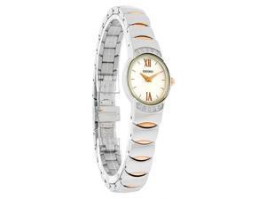 Seiko Vivace Ladies Diamond Two Tone Stl Steel & Rose Gold Dress Watch SUJ502
